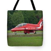 Raf Red Arrows Jet Lands Tote Bag