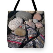 Rag Rugs With Stones And The Dock 3 Tote Bag