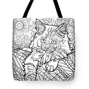 Ragdoll Kitten - Coloring Image Tote Bag
