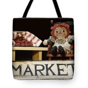 Raggedy Ann Selling Raspberries Tote Bag