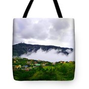 Raging Clouds On The Village Tote Bag