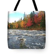 Raging Michigamme River Tote Bag