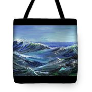 Raging Seas Tote Bag