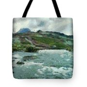 Raging Water Streams In The Hills Tote Bag