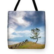 Rail Fence And A Tree Tote Bag