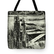 Rail Fence Tote Bag