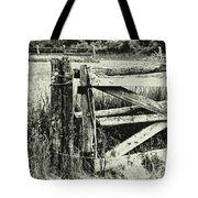 Rail Fence Tote Bag