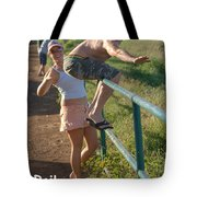 Rail Surfing Tote Bag