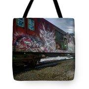 Railcar Graffiti Tote Bag