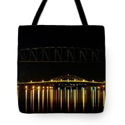 Railroad And Bourne Bridge At Night Cape Cod Tote Bag