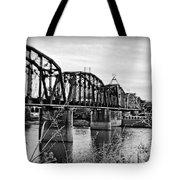 Railroad Bridge -bw Tote Bag