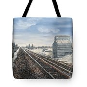 Railroad Going North  Tote Bag