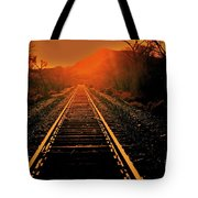 Railroad  Surreal Perspective IIi Tote Bag