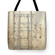 Railroad Switch Patent Tote Bag