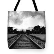 Railroad Tracks - Charcoal Tote Bag
