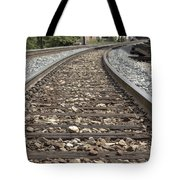 Railroad Tracks Tote Bag by Danielle Allard
