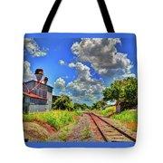 Railroad Tracks Tote Bag