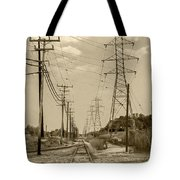 Rails And Wires Tote Bag