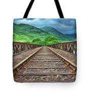 Railway Tote Bag by Harry Warrick