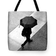 Running In The Rain Tote Bag