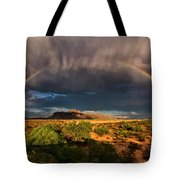 Rain And Rainbows  Tote Bag