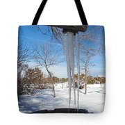 Rain Barrel Icicle Tote Bag
