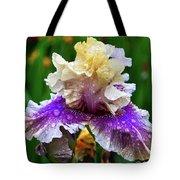 Rain Coated Multi Colored Iris Tote Bag