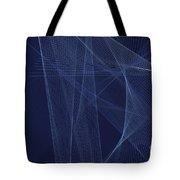 Rain Computer Graphic Line Pattern Tote Bag
