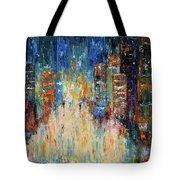 Rain Dance Blues Tote Bag
