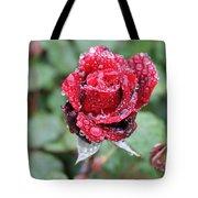 Rain Drop Rose Tote Bag