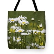 Rain Drops On Daisies Tote Bag