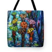Rain Fantasy Acrylic Painting  Tote Bag