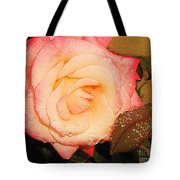 Rain Flower Rose Tote Bag