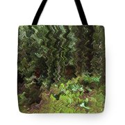 Rain Forest Abstract Tote Bag