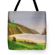 Rain Forest Meets The Sea Tote Bag