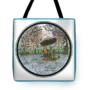 Rain Gnome Rain Circle Tote Bag