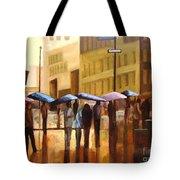 Rain In Manhattan Number Seventeen Tote Bag by Tate Hamilton