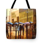 Rain In Manhattan Number Seventeen Tote Bag