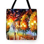 Rain In The Night City Tote Bag