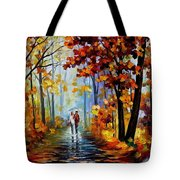 Rain In The Woods Tote Bag