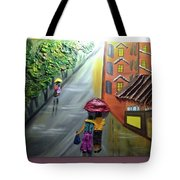 Rain Nature And Street  Tote Bag
