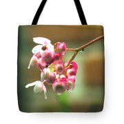 Rain On Flowers Tote Bag