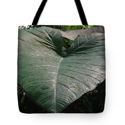 Rain On Leaf Tote Bag