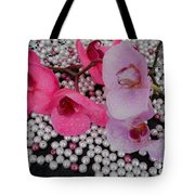 Rain On Orchids Tote Bag