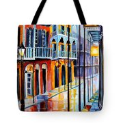 Rain On Royal Street Tote Bag