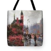 Rain On Sixth Avenue Tote Bag