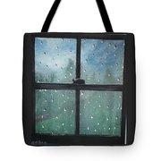 Rain On The Window Tote Bag