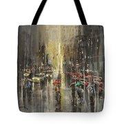 Rain On Wisconsin Avenue Tote Bag