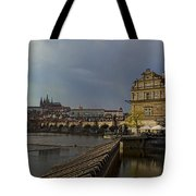 Rain Over Prague Tote Bag