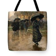 Rain Storm Union Square Tote Bag by Childe Hassam